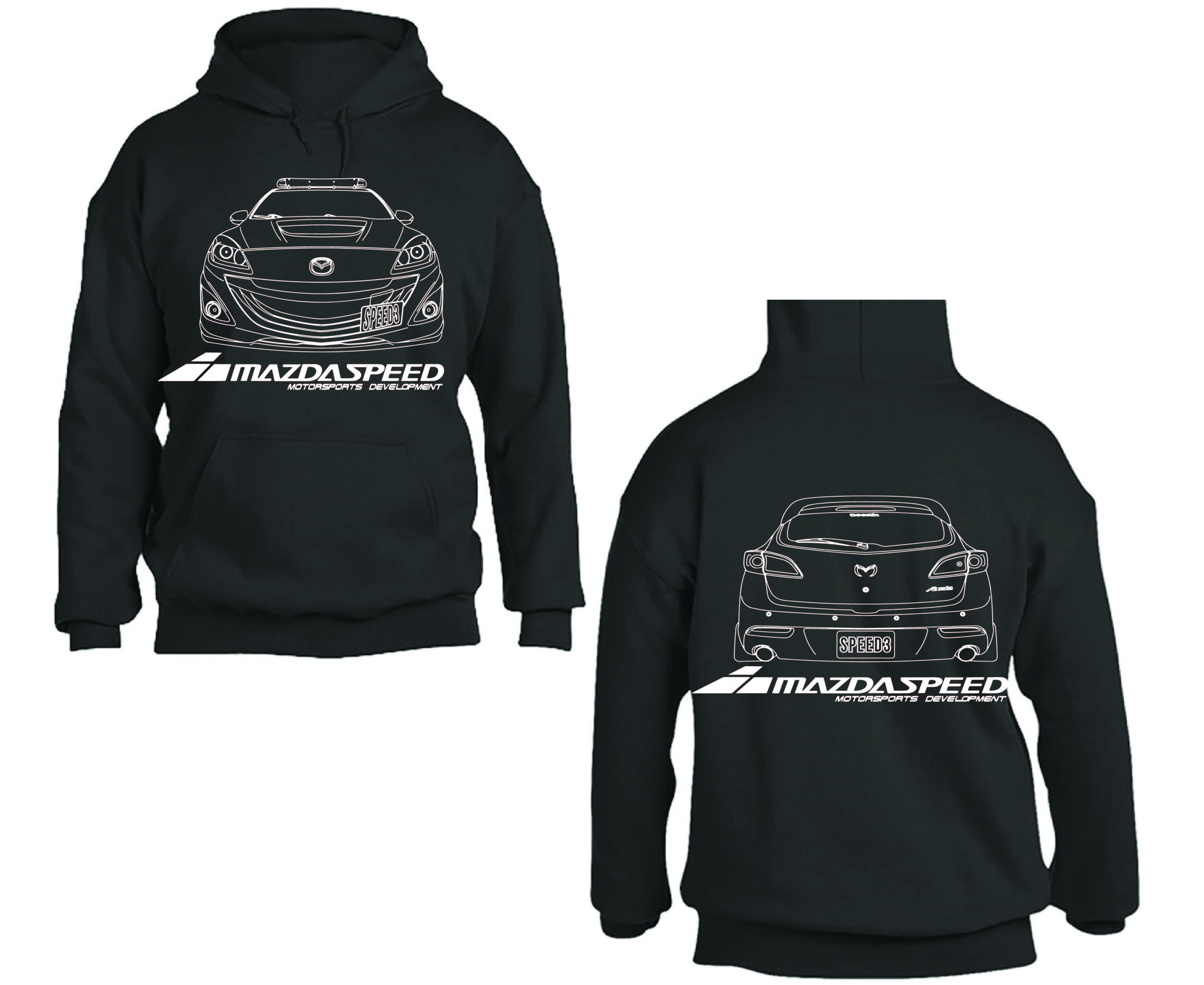 Mazdaspeed3 For Sale >> Mazdaspeed3 Gen2 Hoodie – Boosted4Bangers